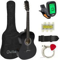 BCP 38in Beginner Acoustic Guitar Kit w/ Case, Strap, Tuner