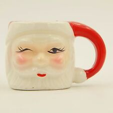 Vintage Santa Clause Toothpick Holder Winking Christmas Porcelain Ceramic Japan