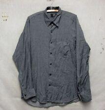 Z7672 Men's IKE Behar Gray Long Sleeve Button Down Shirt-Medium