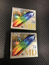 Jvc Md-74 set of 2 minidisc Crystal Gold
