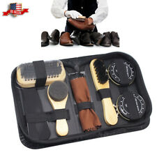 Neutral Shoes Cleaning Kit Polish Boot Leather Shine Care Brushes Tool Case