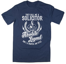 Solicitor T-Shirt - Absolute Legend! Funny T-Shirt available in 6 colours.