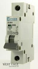 Europa Components - EUB1 - 50a Type B Single Pole MCB Used