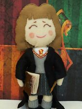 Hermoine Granger Harry Potter Wizard Art doll with Magic wand and spell book
