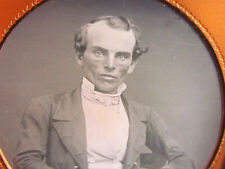 unusual looking victorian gentleman daguerreotype photograph