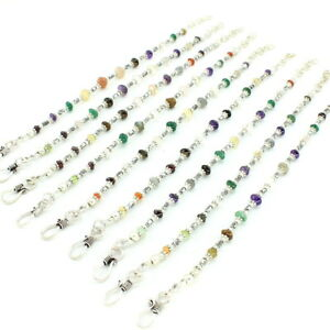 Bracelet natural amethyst citrine garnet multi gemstone beaded 9 pieces 54 grams