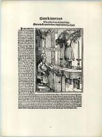 Hans Burgkmair Golden Shoe Workman Miracle Old Woodcut