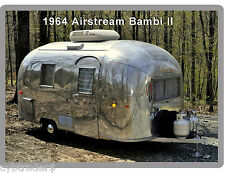 1964 Airstream Bambi II Trailer  Refrigerator / Tool Box  Magnet