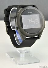 NWT Unisex Watch GUESS Black Rubber Digital New U10068G1