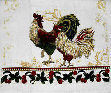 Kitchen Dish Towels W/ Crochet Tops - Rooster --Listing # 956