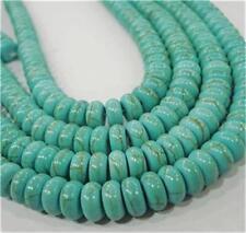 "4x6mm Turkey Turquoise Abacus Loose Beads Gemstone 15"""