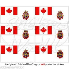 CANADA Canadian Armed Forces Ensign CF Flag Mobile Cell Phone Mini Stickers x6