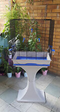 X-Large Bird Cage with Stand Finches Parrot Canaries Budgies Feeder Seat Cages