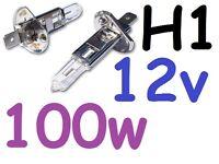 1pr H1 Light Globes Bulbs 12V 100W Halogen