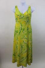 ESCADA Yellow Floral Silk Sundress Fit & Flare Dress SZ 38 US 8 (102)
