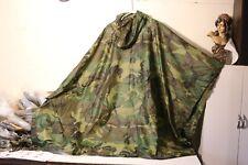 USGI Military Poncho Ripstop, Camo  Green