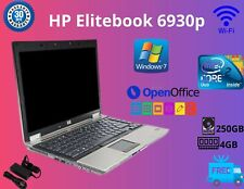 "CHEAP HP EliteBook 6930p 14.1"" Intel Core 2 Duo 4GBRAM  250GB HDD WIN 7 WEBCAM"
