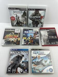 PS3 Game Lot - Dead Rising 2, Need For Speed, Sniper 2, Watch Dogs, Sims + More!