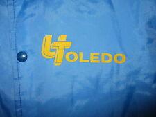 vtg 1970s 80s University Of Toledo Jacket Nylon Windbreaker Rockets Chalk Line M