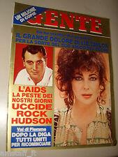 GENTE=1985/32=LIZ TAYLOR=ROCK HUDSON=SANT'ORSO=TESERO=TULLIA E GIAN MEDIUM=