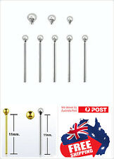 """1pc S925 sterling silver """"Bend it yourself"""" nose pins studs,silver and golden"""