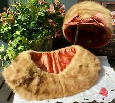 Exceptional Antique Mink Hat and Collar