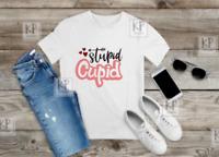 Stupid Cupid valentines day kids tee 2 - 15 years FOL - funny