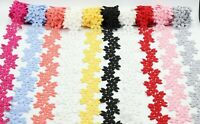 3.5Cm Beautiful Daisy Lace Trim in Colours Guipure Ideal for Embellishing Sewing