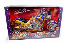 Toy Zone IRON LEGENDS - ARLEN NESS Motorcycles - Yellow & Blue Chopper 1/6 Scale