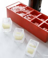 Kikkerland Stackable Ice Cube Shot Glasses Tray Icy Square Shooter Glass Party