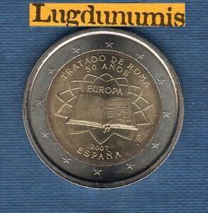 2 euro Commémo Espagne 2007 Traité de Rome Spain