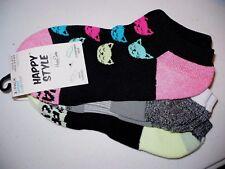 Happy Style Socks Sport Low Cut Socks 3 Pair Shoe Size 5.5-9.5 NEW #32