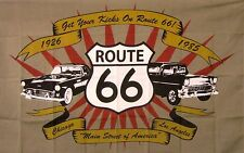 Get Your Kicks On Route 66 Flag 3' X 5' Indoor Outdoor Multi-Color Banner