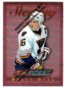 1995-96 Finest #10 Brett Hull BRONZE - St. Louis Blues - SET BREAK