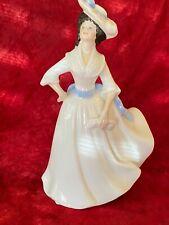 Royal Doulton Lady Figurine - 1981 Margaret Black Hair Blue Bows L51.22