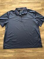 Reebok Golf  Men's Blue Polo Shirt Size 3XL Play Dry 100% Polyester Short Sleeve
