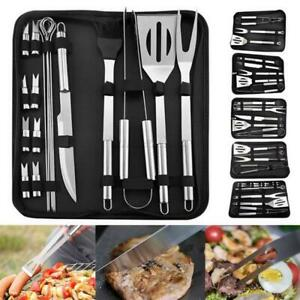 3/5/7/9/8/16/20Pcs Stainless Steel BBQ Tools Set Kit Grill Utensil Tool With Bag
