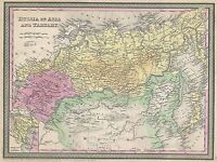 GEOGRAPHY MAP ILLUSTRATED ANTIQUE MITCHELL RUSSIA LARGE POSTER ART PRINT BB4445A