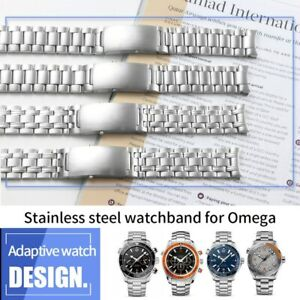 for Omega Seamaster 300, 18/20/22mm Stainless Steel Watch Band/Strap with Buckle