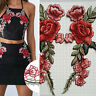 2 x Embroidery Rose Flower Sew On Patch Badge Hat Jeans Bag Dress Applique Craft