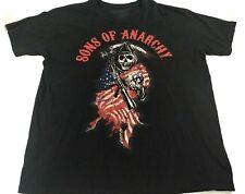 Sons Of Anarchy SOA Flag/Globe/Rifle/Sickle Reaper Shirt XL