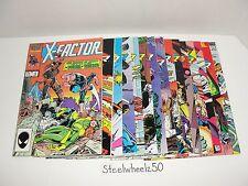 X-Factor 15 Comic Lot Marvel 1986 #4 16 17 18 20 21 22 25 41 42 43 44 45 Ann 2 5