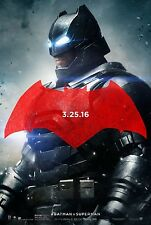 Batman V Superman Dawn of Justice Original Movie Poster Double Sided - Style C