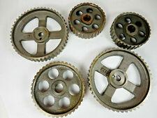 LOT 5 Auto, Truck Engine Timing Belt Gears Datsun, Toyota Steampunk Art, Japan