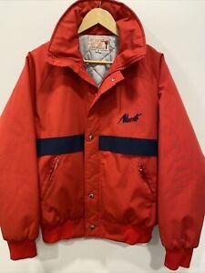 Vintage Alberto Red Blue Jacket MEDIUM New Condition SID'S SPORT SHOP Alberta