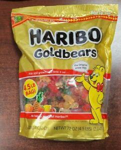 Original Haribo Gold-Bear Gummi Bear Candy Stand Up Resealable Bag 72oz Germany
