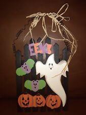 Black Halloween Wood Plaque Decoration