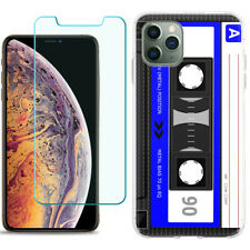 TPU Case for Apple iPhone 11 Pro + Tempered Glass - Cassette Blue