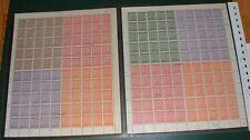 SBZ - die seltenen  Zusammendruckgroßbogen 5 + 6  postfrisch