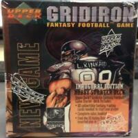 1995 Gridiron Fantasy Football Game Inaugural Edition Hobby Starter Deck Set Box
